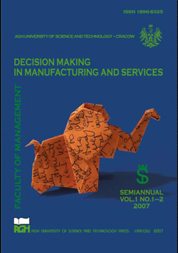 Decision Making in Manufacturing and Services